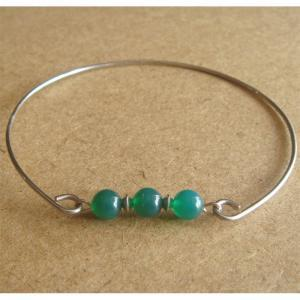 Natural Gemstone Green Jade Bangle ..